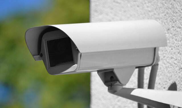 close up of surveillance camera