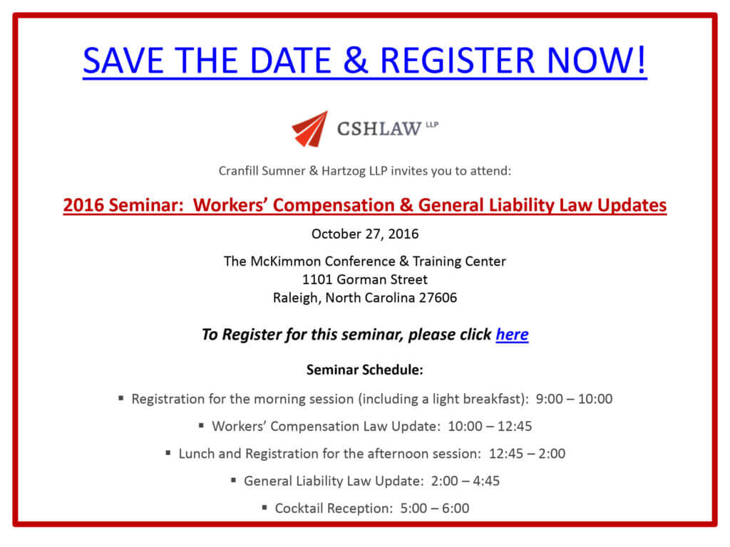 2016 Firm Seminar Save the Date
