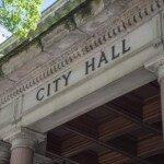 City Hall Building Facade Sign