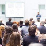 People watching a presentation