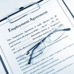 Employee Agreement Form Stock Photo