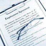 Employee Agreement Form Stock Photo