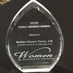 Robin Hayes Terry, J.D. Triangle Business Journal Women in Business Award