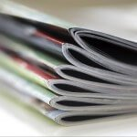 Magazines stacked - close up