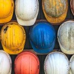 Assortment of Well-Worn Hard Hats
