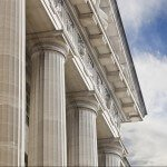 Side of Government Building with Columns