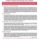 Public Entity Immunity Facts