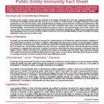 Public Entity Immunity Facts