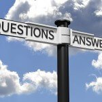 Questions and Answers street sign