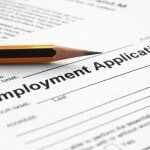 Employment Application Stock Photo