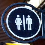 Men and women's bathroom marker